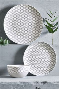 Buy Set Of 4 Geo Pasta Bowls from the Next UK online shop