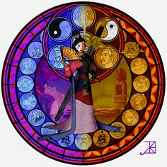 Mulan stain glass