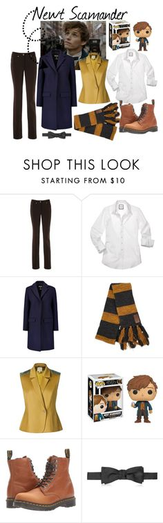 """Newt Scamander"" by masquerademan on Polyvore featuring MSGM, Leka, Dr. Martens, Versace and cosplay"