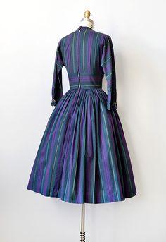 vintage 1950s striped Jonathan Logan dress