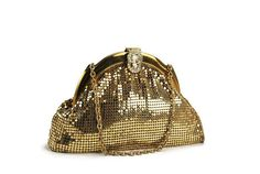Vintage Whiting and Davis Gold Mesh Evening Bag by BichenVintage
