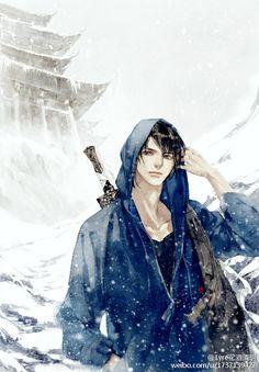Moonbeam on Chang'an Character Inspiration, Character Art, Character Design, Manga Boy, Anime Manga, Vampires, Korean Painting, Hot Anime Guys, Anime Boys