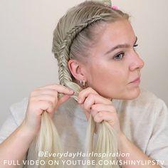 Dutch Braided Hairstyles, Fishtail Braid Hairstyles, Braided Hairstyles Tutorials, Easy Hairstyles, Medium Hair Braids, Braids For Short Hair, Medium Hair Styles, Curly Hair Styles, How To Braid