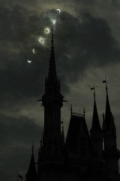 This and several really great shots of the recent eclipse are posted on the Tokyo Disney Blog. This is my favorite. Killer time lapse effect! Photo by T.K