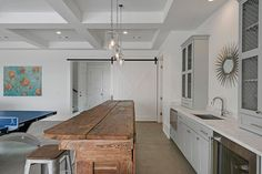 beach house game rooms | Rustic Cottage Wet bar with French T Back Bar Stools - Cottage ...