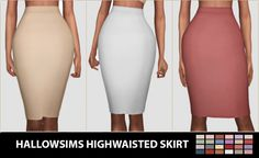 Highwaisted Skirt at Hallow Sims via Sims 4 Updates Check more at…