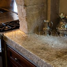 LOVE THIS COUNTER SURFACE  mediterranean kitchen countertops by Ancient Surfaces