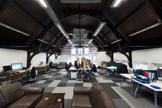 Workspace redefined at the new Affixxius Films HQ, Trinity Hall.