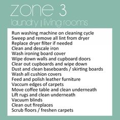 Zone 3 living rooms and laundry