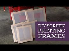 Here's a tutorial for making your own frames for screen printing at home! Please click to subscribe http://bit.ly/1aE5UOT and OPEN for all the info... Sorry ...