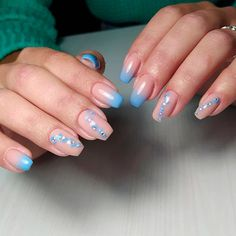Lovely Blue Gradient Coffin Nails ❤ 30+ Outstanding Short Coffin Nails Design Ideas For All Tastes ❤ See more ideas on our blog!! #naildesignsjournal #nails #nailart #naildesigns #coffins #coffinnails #shortcoffinnails #coffinnailshapes