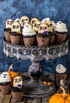 Chocolaty, single-serving-sized, made-from-scratch Ghosts in the Graveyard Treats. We had a long, dreary, very gray and very rainy weekend.