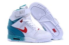 finest selection a466a 606a9 Women Nike Air Revolution Sky Hi White Sport Turqu Wedge Sneakers