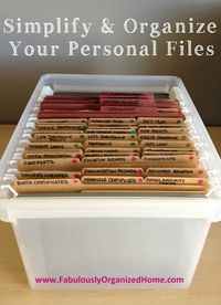 A System For Organizing Your Paper Files. Idea for organising kids school work, reports and medical info. Have one tub for each child .