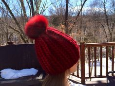 Chunky Burgundy Other Colors Available Wool by HandmadeKnitsHats, $100.00