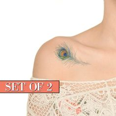 Temporary Tattoo Peacock Feather Feather Peacock by Siideways