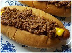 Julias südliche Hot Dog Chili Sauce - New menu - Burger Chilli Recipes, Hot Dog Recipes, Sauce Recipes, Cooking Recipes, Cooking Chili, Beef Recipes, Yummy Recipes, Frugal Recipes, Hamburger Recipes