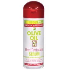 Love this to protect hair from blow drying. Makes my naturally nappy hair shiny and straighter than pressing custards. It is much better for my hair.