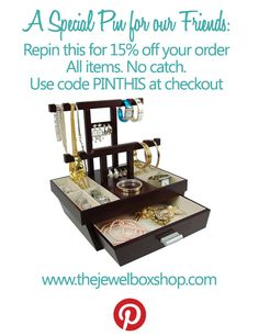 Repin this for 15% off your next order! No strings attached, just great savings on great jewellery accessories!