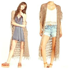 Free People NWT Cardigan Long crochet cardigan  NWT  Size XS/S  Free People Sweaters Cardigans