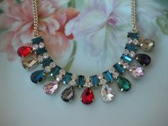 Vintage Multi-Color Crystal Bold Statement by countryroadgifts