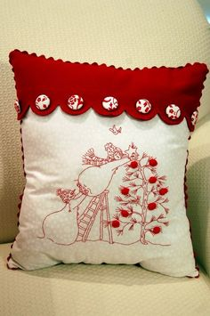 Christmas Quilt & Pillows | Pink Polka Dot Creations,LINDA ESTE ESTILO DE ALMOFADA:
