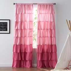 Easily add a chic look to any window with this SONOMA Goods for Life ruffle window curtain set. Pink Kids Curtains, Pink Ruffle Curtains, Curtains Kohls, Girls Bedroom Curtains, Closet Curtains, Bedroom Decor For Teen Girls, Teen Girl Bedrooms, Window Curtains, Bedroom Ideas