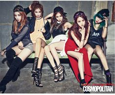 4Minute - Cosmopolitan Magazine March Issue '15