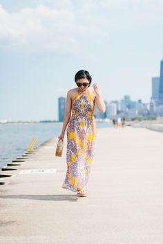Shopping at T.J. Maxx and found a paisley print maxi dress,  summer maxi dress, cult gaia