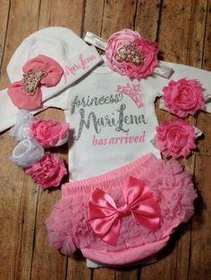 baby girl coming home outfit take home outfit by SweetnSparkly