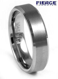 Tungsten Brushed Mens Wedding Ring       mens wedding rings