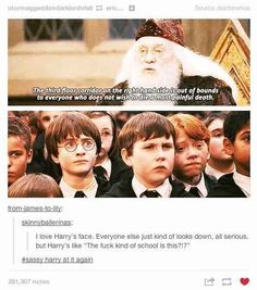 Harry being sassy, per usual.