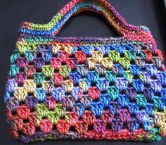 Items similar to Crochet Rainbow bag or purse. on Rainbow bag or purse Granny Free Crochet Bag, Crochet Purse Patterns, Crochet Shell Stitch, Crochet Motifs, Crochet Tote, Crochet Handbags, Crochet Purses, Love Crochet, Crochet Crafts