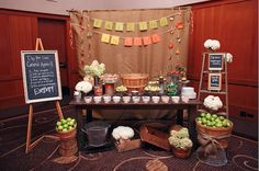 Blissfully Sweet provided a yummy and and individual caramel apple bar for this beautiful fall wedding.