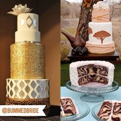 Our favoirte Safari/Zoo Wedding Cakes - Weddings Gone Wild - Bummed Bride Wedding Pins, Wedding Blog, Wedding Styles, Dream Wedding, Wedding Day, Wedding Jewelry, African Cake, African Theme, African Wedding Cakes