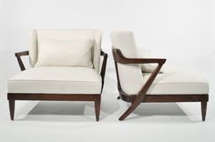 Lot # : 19 - MID-CENTURY LOUNGE CHAIRS STYLE OF TOMMI PARZINGER