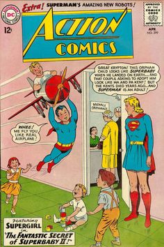 Superman Comic Book Cover Dated April 1963!
