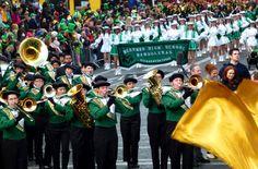 Berkner High School Bandoleras from Richardson, Texas - St Patrick's Day Parade, Dublin, Ireland 2012