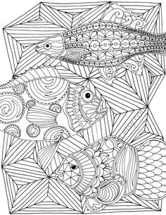 Nautical adult coloring page, ocean adult coloring sheet, colouring sheet, adult…