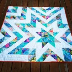 "60"" x 60"" Star Quilt - squares and HSTs.  Earlier blog post here: http://therecipebunny.blogspot.ca/2014/02/auction-quilt.html"