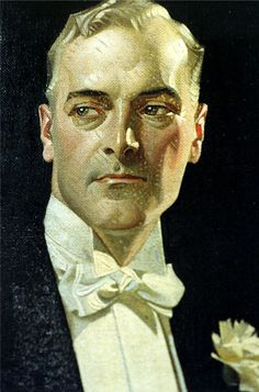 J.C. Leyendecker, original oil painting, illustration art for Arrow Collar ad.