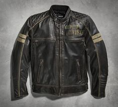 It's the washed buffalo leather that gives our Excam Warrior Leather Jacket its rugged good looks. A jacket like this is made for adventure with body armor pockets, venting to cool things off, and plenty of pockets. Our designers added reflective material for enhanced visibility while you travel the highways and side roads in this men's leather motorcycle jacket.