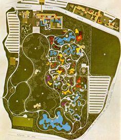 Projeto paisagista de Roberto Burle Marx