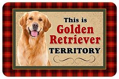Novelty Dog Territory Mat 18 by 27Inch Golden Retriever *** You can get additional details at the image link.