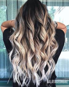 Frosted Ombre with Big Spiral Curls
