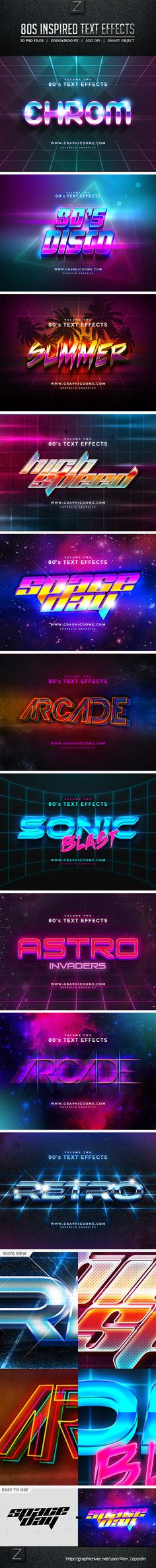 80s Text Effects #photoshop Download here: http://graphicriver.net/item/80s-text-effects/10256165?ref=ksioks