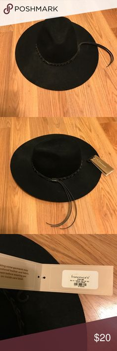 Black fedora hat New with tags never worn from Francesca's Francesca's Collections Accessories Hats