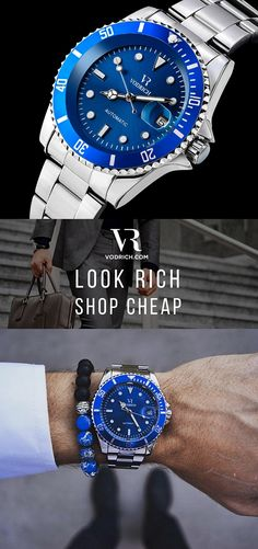 With a robust and sophisticated design, the Deep Dive reflects the unchanging elegance of the iconic divers' watch. A perfect companion whether you are looking for a timepiece to go with a dressed up or a more casual look. It features a sleek rotatable bezel, blue face, & self-winding automatic mechanical movement which compliments perfectly the brushed stainless steel band. Free Shipping Worldwide✈ Click the Buy Button to make it yours.