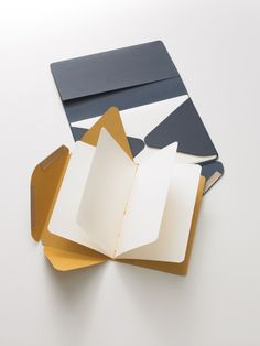 These Moleskine postal notebooks are a really neat, stylish way to send a letter. 8 pages fold up inside a card outer Pen And Paper, Paper Art, Paper Crafts, Book Crafts, Moleskine, Fountain Pen Ink, Handmade Books, Handmade Notebook, Letter Writing