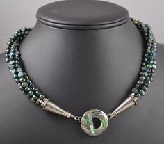 4 Strand Fresh Water Pearl Necklace by FournierCollection on Etsy, $152.00